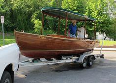 22' Mahogany Electric Boat