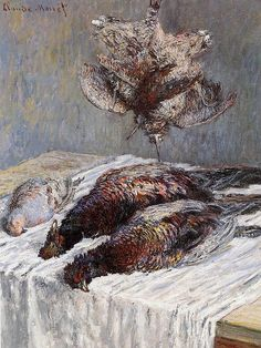 Claude Monet - Pheasants Woodcocks and Partridges