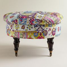 Round Istanbul Lucille Ottoman from Cost Plus World Market on Catalog Spree, my personal digital mall.
