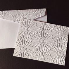 Daisies embossed card & envelope