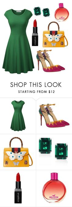 """""""💥👑💥👍"""" by olgakurganova ❤ liked on Polyvore featuring Christian Louboutin, Gucci, CARAT* London, Smashbox and Hollister Co."""