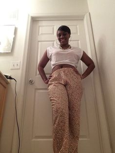 Crop top : Macy's Jewelry: Charlotte Russe Palazzo Pants & sandals: Wet Seal