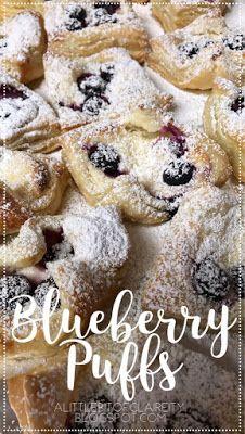 Blueberry Puffs #baking #breakfast #summer #blog #blogger #pastry #blueberry #creamcheese