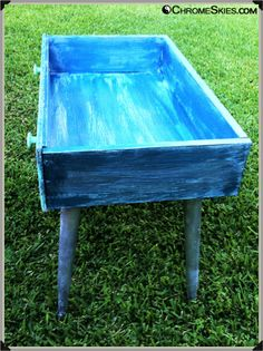 repurpose dresser without drawers | Repurposed Dresser Drawer Into Baubled Patio Table | Chrome Skies ...