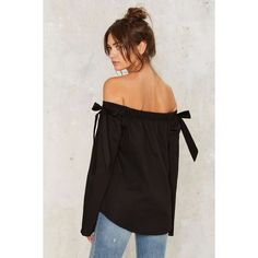 Flares and Graces Off-the-Shoulder Top ($48) ❤ liked on Polyvore featuring tops, flare tops, spandex tops, off-the-shoulder tops, flared tops and off shoulder tops