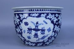 Chinese-Beautiful-Rare-Blue-and-white-Porcelain-Vat