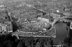 Saluhallen Göteborg, 1930-tal Gothenburg, Sweden, Paris Skyline, Exterior, Organization, Black And White, Architecture, Photography, Travel