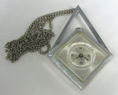 "Offered to you by The Fashion Den is this #Vintage #necklace #pendant #watch, with aluminum backing. The watch is NOT running and needs to be repaired. It measures 2.5"" from to... #vintage #jewelry #etsygift #sale #v2team"