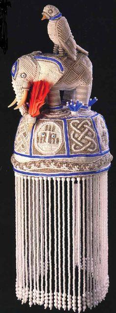 Yoruba Beaded Crown. Opa Itele for Obatala and Crown Jose Rodriguez: