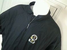 DryJoys FootJoy S/Sleeve 1/4 Zip Golf Rain Jacket Black MACGREGOR Clan Logo XL