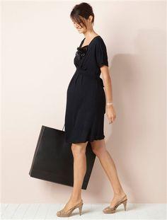 Umstandsmode (Maternity) by Vertbaudet. Das schöne Kleid für Schwangere von Colline schmiegt sich sanft und bequem an Ihren Körper.