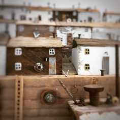 Rain, rain, go away. Kirsty Elson, Driftwood Projects, Little Houses, Wood Watch, Wood Art, Woodworking, Miniatures, Photo And Video, Wooden Houses