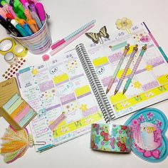 Working on my week  Thanks again for the weather stickers @mischieviousclown I'm loving them! They fit into my planner perfectly this week  #plannergoodies #planneraddict #eclp #erincondren #erincondrenlifeplanner #stationeryaddict #targetdollarspot #pageflags #crownpen #planner #plannerlove #plannernerd