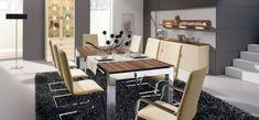 modern dining table steel