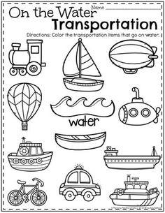 Best science preschool transportation for kids 23 Ideas Preschool Lesson Plans, Preschool Worksheets, Preschool Classroom, Preschool Learning, Preschool Crafts, Water Theme Preschool, Teaching, Kindergarten Games, Alphabet Worksheets