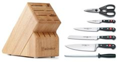 Quick and Easy Gift Ideas from the USA  Wusthof Classic 7-Piece Cutlery Set with Storage Block http://welikedthis.com/wusthof-classic-7-piece-cutlery-set-with-storage-block #gifts #giftideas #welikedthisusa