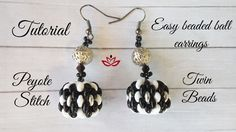 Tutorial for beaded ball of twin (superduo) beads that you could use in earrings, necklaces, bracelets and as a pendant. Peyote stitch ball.