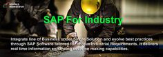Integrate line of Business under single solution and evolve best practices through SAP Software tailored for unique industrial requirements. It delivers real time information enhancing decision making capabilities - indusnovateur.com