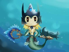 Chibi Nami (League of Legends)  by ~LilPotato