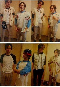 Awww! So cute...Rob and Jackson in Wardrobe on Twilight LMAO!