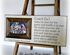 personalized coach gift with player names volleyball gift baseball