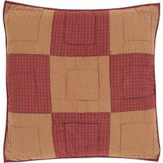 Ninepatch Star Quilted Euro Sham - This euro sham measures 26
