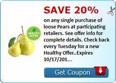 Save 20% When You Buy Pears This Week expires 10/17/16