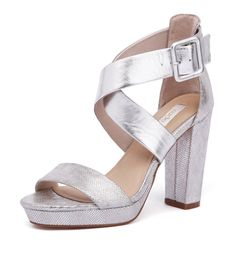 Shop Missy Silver by Nude. Women's & men's shoes with of styles to choose from. Silver Shoes Heels, Metallic Heels, Nude Shoes, Beach Wedding Shoes, Ankle Boots, Footwear, Aw17, Stuff To Buy, Sassy