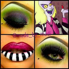 love the eyes!  could work for zombie pin up