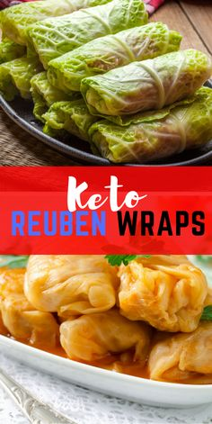 Keto Reuben Wraps With these crazy good Keto Reuben Cabbage Rolls, you're getting all of the classic Reuben flavors without the extra carbs. This tasty gluten-free appetizer is perfect for St.Patrick's Day or any day of the year! Easy Healthy Recipes, Paleo Recipes, Low Carb Recipes, Real Food Recipes, Cooking Recipes, Healthy Food, Paleo Menu, Cabbage Wraps, Cabbage Rolls