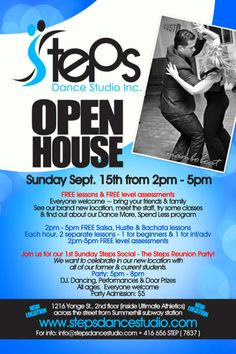 Steps Open House and Grand Opening (new location) | TorontoDance.com