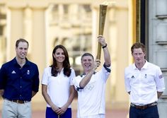 Prince William in Will, Kate and Harry receive the Olympic Torch