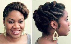 50 Cute Updos for Natural Hair cheveux naturels tordus updo Natural Hair Twist Out, Pelo Natural, Natural Hair Updo, Natural Hair Styles, Au Natural, Twist Styles, Braid Styles, Cornrows, Twisted Hair
