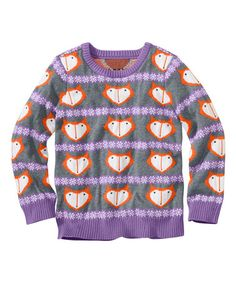 Look what I found on #zulily! Soft Amethyst Merry Critters Sweater - Toddler & Girls #zulilyfinds