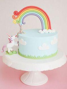 Buntes Rezept: Wir zeigen Dir, wie Du eine grandiose Einhorntorte selber gestaltest, Geburtstagstorte / recipe for the best birthday cake ever: colourful unicorn cake via DaWanda.com