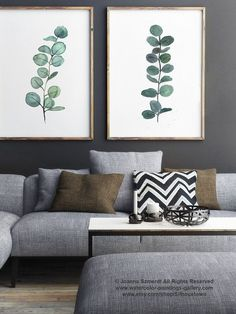 Pintura de acuarela de rama de eucalipto por ColorWatercolor