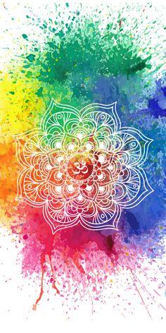 ૐ om ૐ multicolored mandala. ૐ om ૐ multicolored mandala iphone wallpaper zen, hippie Mandala Art, Watercolor Mandala, Mandala Drawing, Mandala Painting, Mandala Design, Iphone Wallpaper Zen, Hippie Wallpaper, Iphone Background Wallpaper, Cellphone Wallpaper