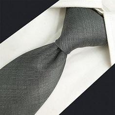 1c8bac3ad2c4 Shlax&Wing Solid Color Grey Mens Neckties Ties Business Suit XL 63″ 57.5″  Classic