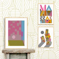 Papel pintado Marrak. Basoa, verde. Ambiente Kids Rugs, Frame, Ideas, Home Decor, Wall Papers, Paper Envelopes, Green, Home, Picture Frame