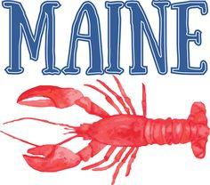 Red Maine Lobster Hummer Sweatshirt