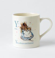 Y - Hunca Munca and Baby Mug. #BeatrixPotter #Mugs #Alphabet