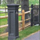 Recessed Pillar Mount - Cleverly disguised and unobtrusive inside a pillar post, the gate entry controller provides easy access to the key pad and telephone system.