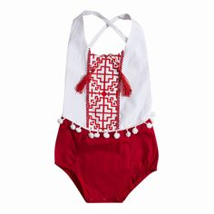 >> Click to Buy << Hi Hi Baby Store Summer Newborn Infant Baby Girls Red Cotton Sleeveless  Bodysuit   0-24M #Affiliate