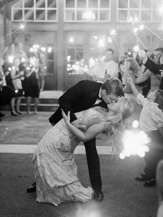 Now this is an exit! Gorgeous sparkler photo! Photography : Amy Arrington Photography Read More on SMP: http://www.stylemepretty.com/2016/08/19/rustic-foxhall-resort-wedding/