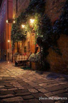 Night in Siena,Tuscany.