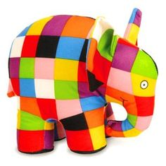 Elmer the Elephant - soft toy inspired by the books by David McKee