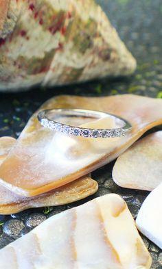 pretty diamond wedding band