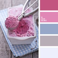 pink and blue color inspiration. Love ice-cream
