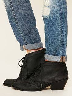 Jeffrey Campbell Woven Saloon Boot at Free People Clothing Boutique