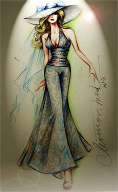 DESENHOS DE MODA: Desenhos de Moda - Macacão com calça pantalona.